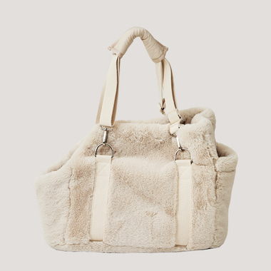 Barbara fur bag (ivory)